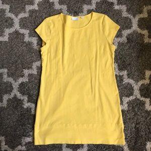 Yellow Knit Mini Dress